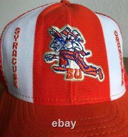 VTG 1970s Syracuse Basketball Snapback Hat Cap Mesh Back Trucker Supreme 70s