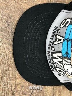 VTG 1980s Mens Snapback Trucker Mesh Hat Cap Made USA Adult Joke Novelty RARE