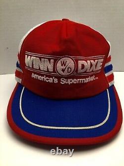VTG 3 Stripe Winn Dixie SnapBack Hat Cap Trucker Farm Appears Unworn 1970s 80s