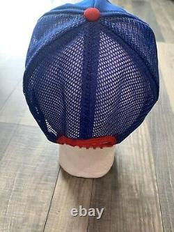 VTG 70s 80s Pepsi Cola 3 Stripe Mesh Snapback Trucker Hat Cap USA Yakima Wa