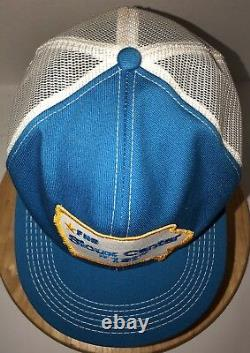 VTG FNB SIOUX CENTER 1st 80s USA K-Products Trucker Hat Cap Snapback BANK Iowa