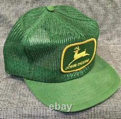 VTG John Deere Green Louisville MFG USA Mesh Snapback Trucker equipment Hat Cap