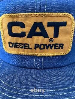 VTG K-brand Denim patch rare Cat Diesel Trucker Hat Cap Snapback