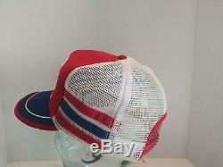 VTG Pepsi Cola 3 Stripe Snapback Trucker Hat Cap North Idaho Fair Made in USA