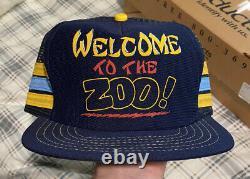 Vintage 1980s ZOO 3 STRIPE Snapback Trucker Hat Cap MADE IN USA RARE