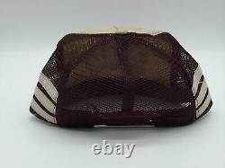 Vintage 3 Stripe Sundowner Reno Snapback Trucker Hat Cap Made In The USA three