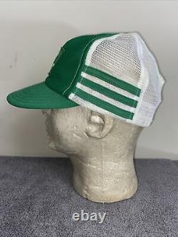 Vintage 3 Stripe Trucker Hat Cap Slice Soda Pop Made in USA Mesh