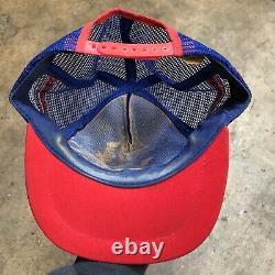 Vintage 3 Stripe Trucker Hat snapback cap lot VTG mesh 1980s
