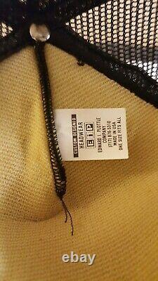 Vintage 3 Stripes John Deere Made in USA men's snapback trucker mesh hat cap