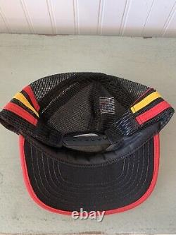 Vintage 3 Stripes Pennzoil Made in USA Racing snapback trucker mesh hat cap NOS