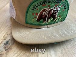 Vintage 70's 80's Trucker Snap Back Hat Cap Suede Yellowstone Park K-products