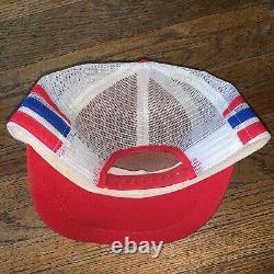 Vintage 70s 80s Pepsi-Cola 3 Three Stripe Trucker Hat Cap Mesh Made In USA RARE