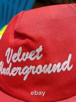 Vintage 80s The Velvet Underground Psychedelic Rock 70s Music Band Hat Cap RARE
