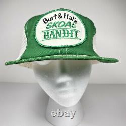 Vintage Burt & Hal's Skoal Bandit Swingster Mesh Trucker Snapback Patch Hat