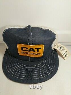 Vintage CAT Diesel Power Trucker Hat Snapback Cap Louisville Mfg USA Patch VTG
