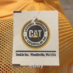 Vintage CAT HR Holt Refakis Hat Cap Snapback Patch Tractor Farmer Trucker USA