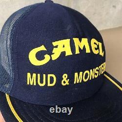 Vintage Camel Mud & Monster Pit Crew Hat Mesh Snapback Trucker Cap Made In USA