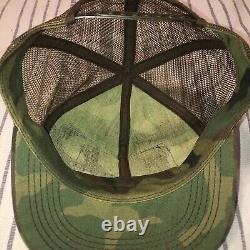 Vintage Camo Stihl Chainsaw Patch Snapback Trucker Hat Cap K BRAND Mesh USA