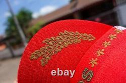 Vintage Campbell Soup 3 stripe Trucker Mesh Snapback hat cap
