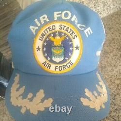 Vintage Cap Trucker Hat United States Air Force 3 Stripes Snapback Made In USA