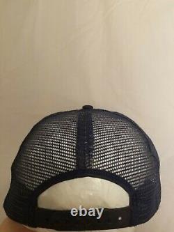 Vintage Chromium Senco Top Gun Eagle Mesh Snapback Trucker Hat Cap Made In USA