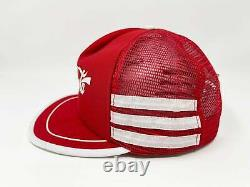 Vintage Coca Cola Hat Snapback Cap 80s Trucker 3 Stripes Coke Enjoy Rare B3