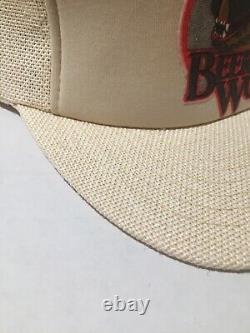 Vintage Coors Light Beer Wolf Hat Snapback Trucker Cap