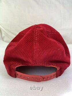 Vintage Cornell University Big Red Corduroy Snapback Trucker Hat Cap