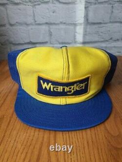 Vintage Dale Earnhardt Trucker hat Wrangler Jeans Racing Team NASCAR Snapback
