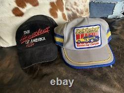 Vintage Dale Earnhardt Winston 3 Stripe Trucker Mesh SnapBack Hat 70s Chevrolet
