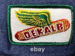 Vintage Dekalb Denim Trucker Hat Snapback Hat Baseball Cap USA Made