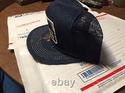Vintage Denim Snapback Trucker Hat Phillips 66 Farm Lubricants Cap K-Brand USA