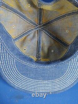Vintage Ford Tractors Denim Patch Snapback Trucker Hat Cap USA Products