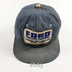 Vintage Ford Tractors Snapback Cap Trucker Hat Patch K Products USA Pima Arizona