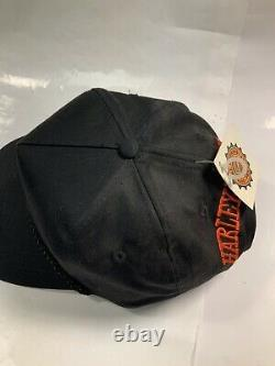 Vintage Harley Davidson Snapback Trucker Hat Cap NEW TAGS OLD STOCK Block Head