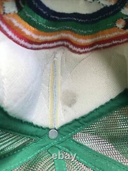 Vintage Hawaii Rainbow Warriors Hat Cap Snapback Trucker Mesh Embroidered Logo