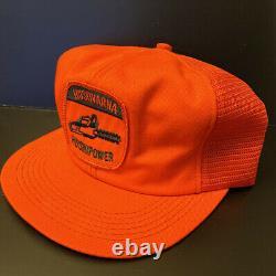 Vintage Husqvarna K Products Chainsaw Patch Mesh Snapback Trucker Hat Cap USA