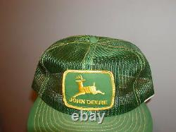 Vintage JOHN DEERE Snapback Hat Cap Mens ALL MESH Patch TRUCKER Louisville 1970s