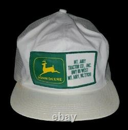 Vintage John Deere Dealer Snapback Meshback Trucker Hat Cap Made in USA rare