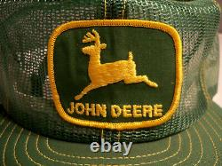 Vintage John Deere Louisville Mfg Co USA Full Mesh NOS Snapback Trucker Hat Cap