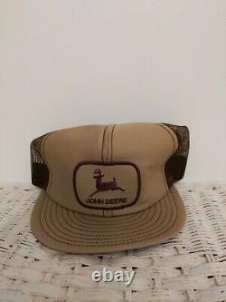 Vintage John Deere Patch Snapback Trucker Hat Cap 80s 90S Louisville