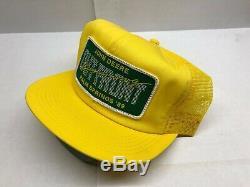 Vintage John Deere Patch Snapback Trucker Hat Cap 80s 90S VTG PALM SPRINGS'89