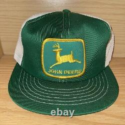 Vintage John Deere Snapback Hat Cap Mens Mesh Patch Trucker Swingster Kansas USA