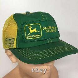 Vintage John Deere Trucker Hat Patch Snapback Cap K Brand Products Kansas