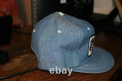 Vintage K-Brand Phillips 66 Denim snapback patch gas truckers farm hat cap