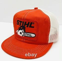 Vintage K Brand Stihl Chainsaw Patch Mesh Snapback Trucker Hat Cap MINT USA MADE