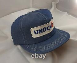 Vintage K-Products Unocal 76 Full Denim Snapback Hat Cap Patch VTG
