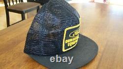 Vintage K-brand Ford Construction Black Full Mesh Snapback Patch Cap/hat Trucker