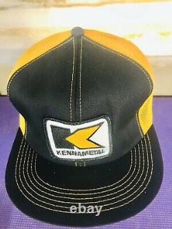 Vintage KENNAMETAL Metal Snapback Mesh Trucker Hat Cap K-BRAND Patch USA Product