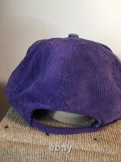 Vintage LA Lakers Trucker Hat Cap corduroy Championship SnapBack 1980s NBA